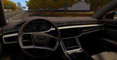 Audi A8 4.0 TFSI Quattro 2018 (1.5.9) - City Car Driving мод (изображение 4)