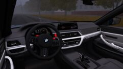 BMW F90 M5 (1.5.9) - City Car Driving мод (изображение 4)