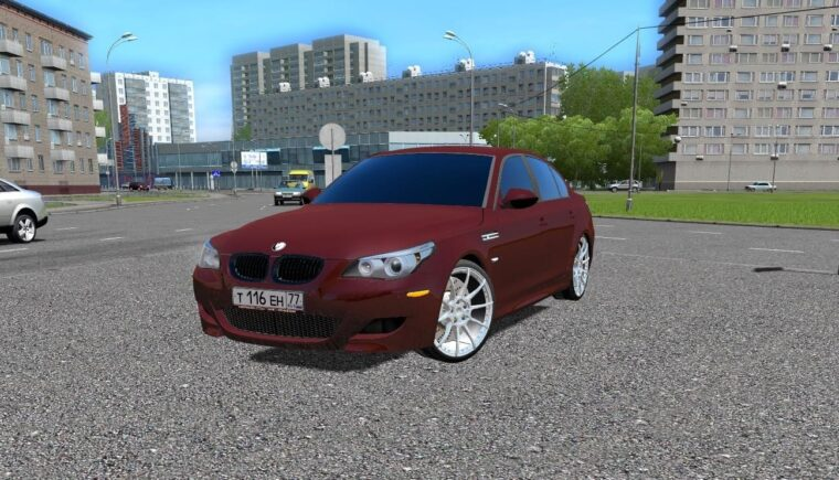BMW M5 E60 Shadow (1.5.9) - City Car Driving мод