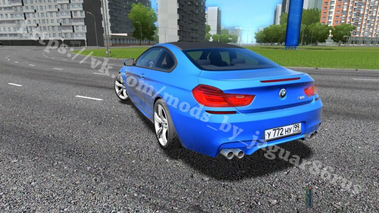 BMW M6 F12 (1.5.9) - City Car Driving мод