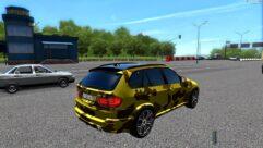 BMW X5 M GOLD (1.5.9) - City Car Driving мод (изображение 3)