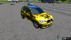 BMW X5 M GOLD (1.5.9) - City Car Driving мод (изображение 4)