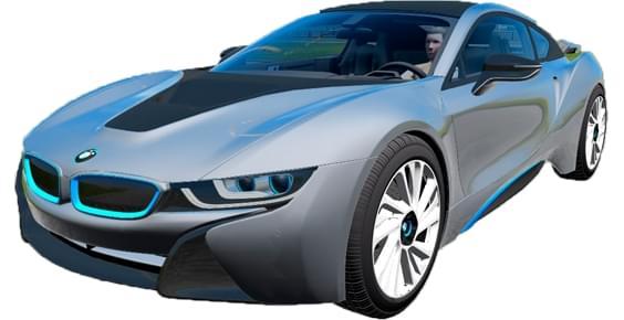 BMW i8 (1.5.9) - City Car Driving мод