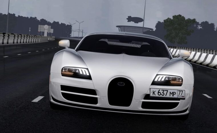 Bugatti Veyron (1.5.9) - City Car Driving мод