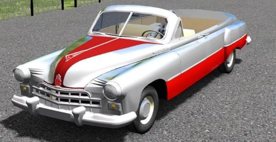 ГАЗ-12 (ZIM) Phaeton (1.5.9) - City Car Driving мод (изображение 5)