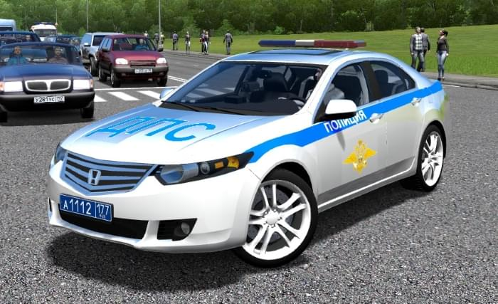 Honda Accord Police (1.5.9) - City Car Driving мод