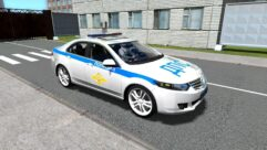 Honda Accord Police (1.5.9) - City Car Driving мод (изображение 2)