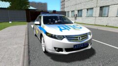 Honda Accord Police (1.5.9) - City Car Driving мод (изображение 3)