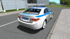 Honda Accord Police (1.5.9) - City Car Driving мод (изображение 4)