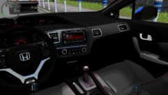 Honda Civic Si 2013 (1.5.9) - City Car Driving мод (изображение 6)