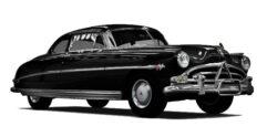 Hudson Hornet (1.5.9) - City Car Driving мод (изображение 11)