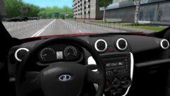 LADA Granta (1.5.9) - City Car Driving мод (изображение 5)