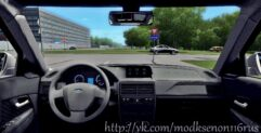 LADA Priora (1.5.9) - City Car Driving мод (изображение 4)