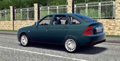 LADA Priora (1.5.9) - City Car Driving мод (изображение 6)