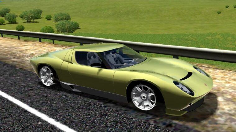 Lamborghini Miura Concept (1.5.9) - City Car Driving мод