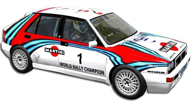 Lancia Delta HF Integrale (устаревшая версия) (1.5.9) - City Car Driving мод