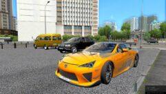 Lexus LF-A Nurburgring Edition (1.5.9) - City Car Driving мод (изображение 4)
