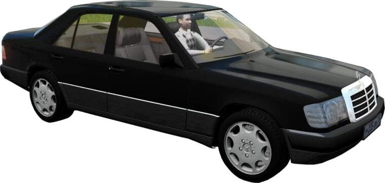 Mercedes-Benz 300E W124 1990 (1.5.9) - City Car Driving мод