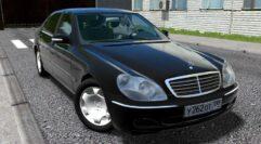 Mercedes-Benz S600 W220 (устаревшая версия) (1.5.9) - City Car Driving мод