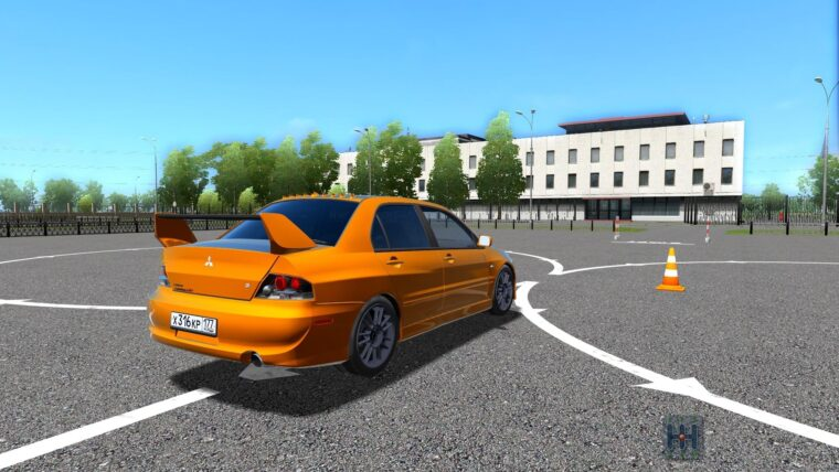 Mitsubishi Lancer Evolution IX MR (1.5.9) - City Car Driving мод
