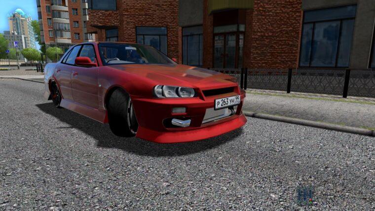 Nissan Skyline ER34 (1.5.9) - City Car Driving мод