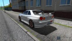 Nissan Skyline GTR V-Spec II (1.5.9) - City Car Driving мод