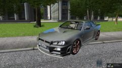 Nissan Skyline GTR V-Spec II (1.5.9) - City Car Driving мод (изображение 3)