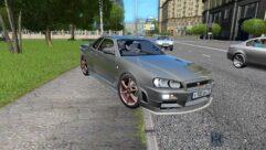 Nissan Skyline GTR V-Spec II (1.5.9) - City Car Driving мод (изображение 4)