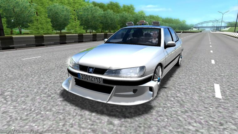 Peugeot 406 Taxi Marseille (1.5.9) - City Car Driving мод