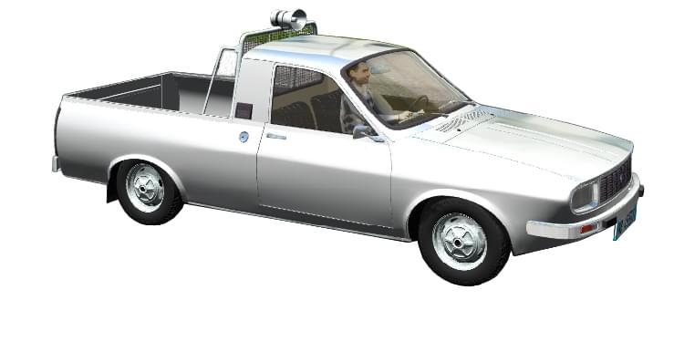 Renault 12 Pick-Up (Dacia) (устаревшая версия) (1.5.9) - City Car Driving мод