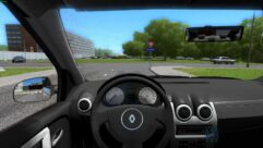 Renault Logan (1.5.9) - City Car Driving мод (изображение 4)