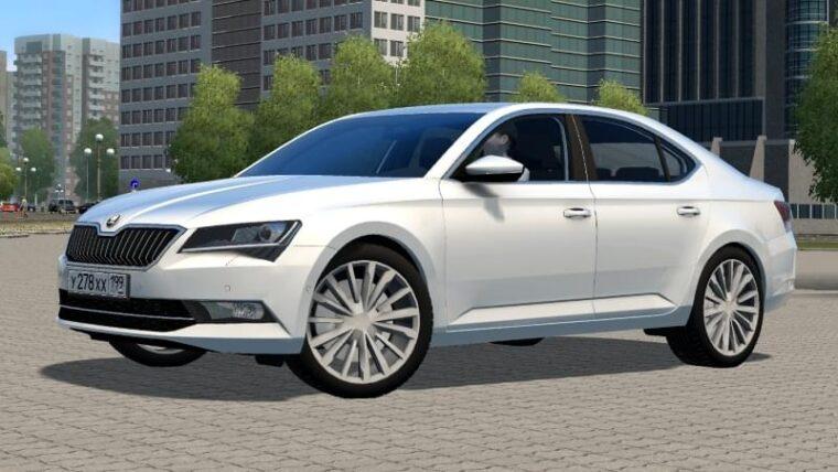Skoda Superb B8 (1.5.9) - City Car Driving мод