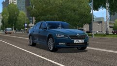 Skoda Superb B8 (1.5.9) - City Car Driving мод (изображение 3)