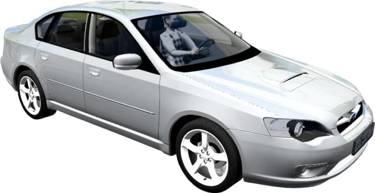 Subaru Legacy B4 2.0 GT 2005 (1.5.9) - City Car Driving мод