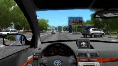 Toyota Avensis (1.5.9) - City Car Driving мод (изображение 4)