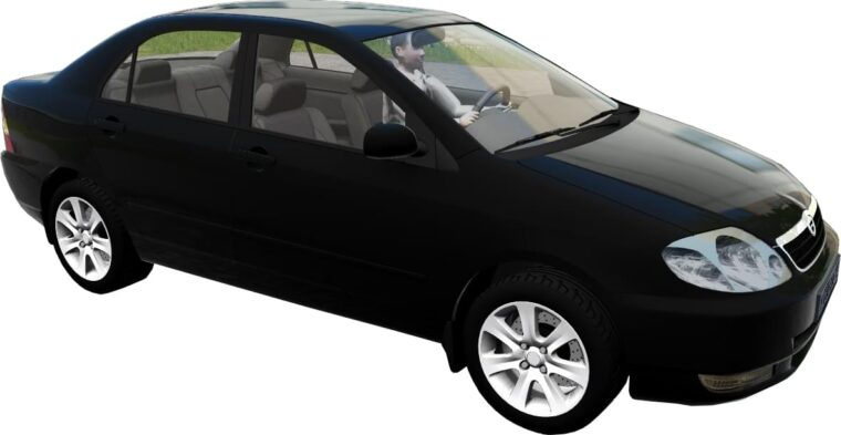 Toyota Corolla E120 2003 (1.5.9) - City Car Driving мод