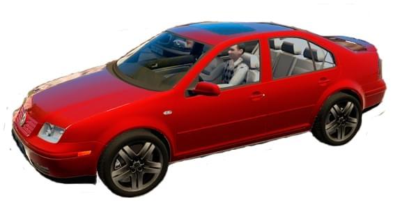 Volkswagen Bora (1.5.9) - City Car Driving мод