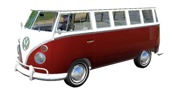 Volkswagen Camper (Kombi) (1.5.9) - City Car Driving мод