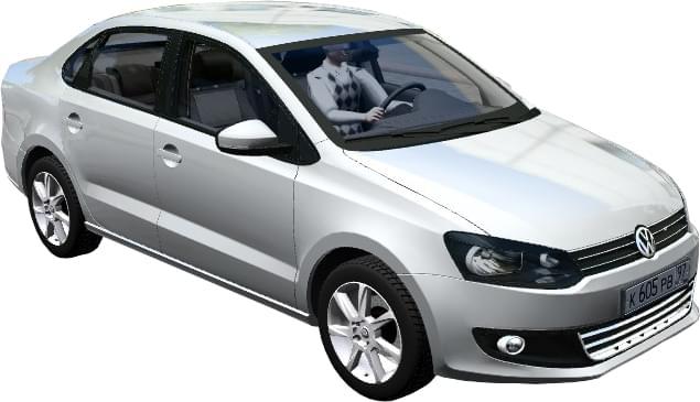 Volkswagen Polo Sedan 1.6 AT (1.5.9) - City Car Driving мод