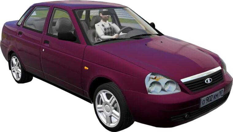Лада 2170 Приора 2007 (1.5.9) - City Car Driving мод