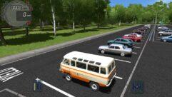 УАЗ 450 (1.5.9) - City Car Driving мод (изображение 6)