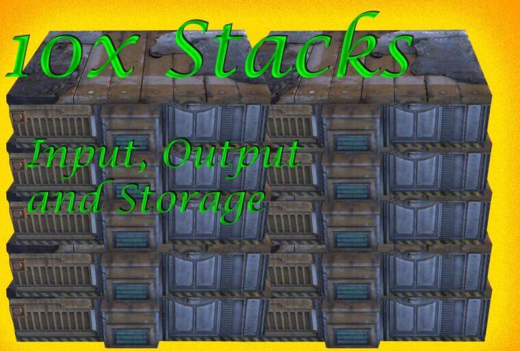 10x Output- Input- and Storage- Stacks - Kenshi мод
