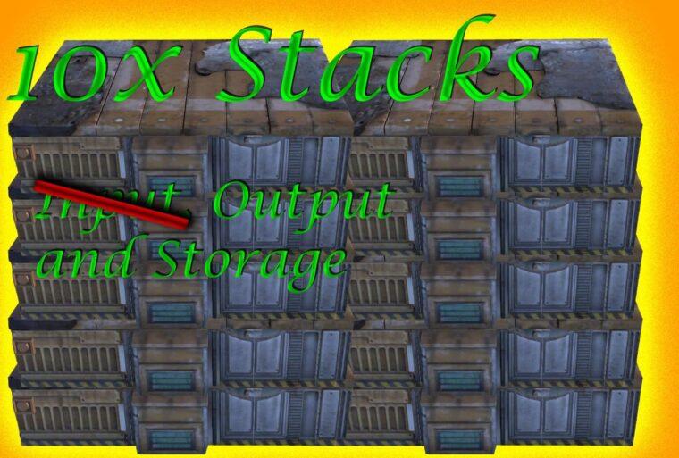 10x Output- and Storage- Stacks - Kenshi мод