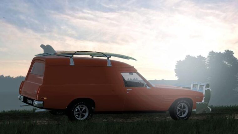 1974 Holden Sandman HQ Panel Van (1.5.9) - City Car Driving мод