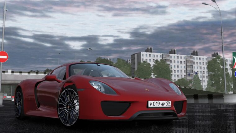 2014 Porsche 918 Spyder (1.5.9) - City Car Driving мод