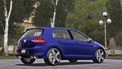 2014 Volkswagen Golf R (1.5.9) - City Car Driving мод (изображение 10)