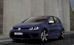 2014 Volkswagen Golf R (1.5.9) - City Car Driving мод (изображение 7)
