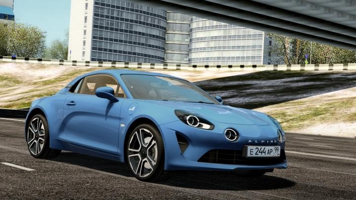 2017 Alpine Renault A110 (1.5.9) - City Car Driving мод