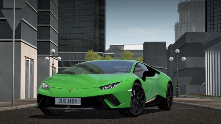 2017 Lamborghini Huracan Performante (1.5.9) - City Car Driving мод