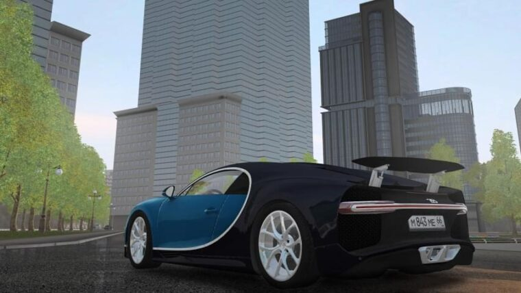 2018 Bugatti Chiron (1.5.9) - City Car Driving мод